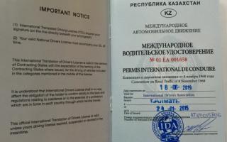 Получение международных водительских прав в Казахстане